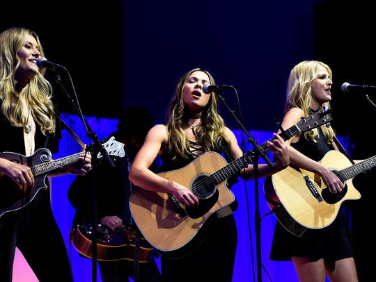 Runaway June performs during the SESAC Nashville Music