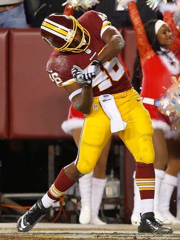 Washington Redskins running back Alfred Morris (46)