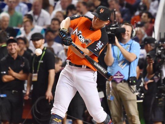 Jul 10, 2017; Miami, FL, USA; Nolan Gorman bats in
