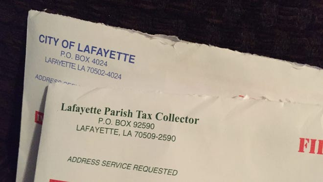 Property tax bills for the city and parish of Lafayette were mailed late this year.