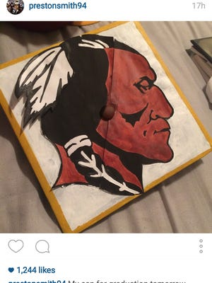 Former Mississippi State defensive end Preston Smith added something special to his graduation cap.