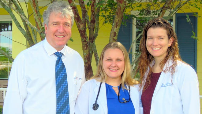 Kane Medical Group, the primary care practice owned-and-operated by the Council on Aging of Martin County. From left, Medical Director Dr. R. Emmet Kenney; Lindsay Serey, MSN, ARNP, FNP-C; and Katie Diamond, ANP-BC, CDE.