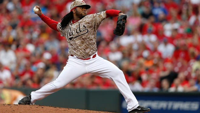Reds starting pitcher Johnny Cueto