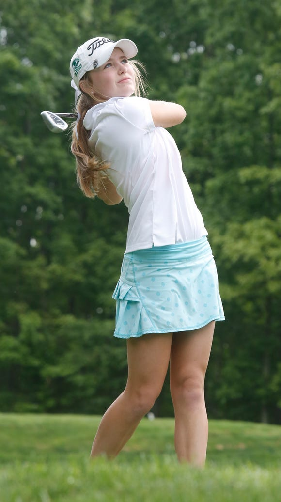 Ursuline's Caroline Hodge at the 3rd tee during the