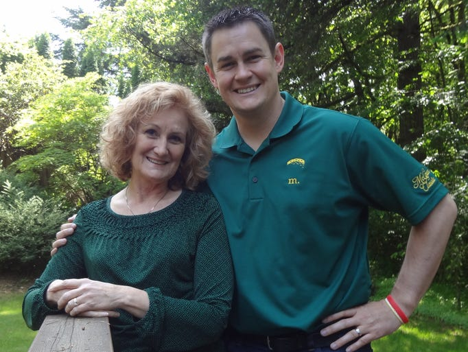 Jason Brandt, CEO of the Salem Area Chamber of Commerce, with his mother, Susan Brandt, an application developer at the Oregon Department of Forestry.