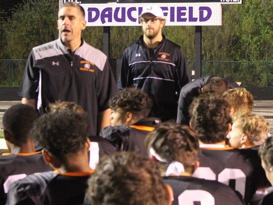 Brother Rice's first-year head coach Adam Korzeniwski