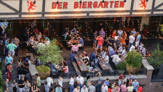 Choose from almost 20 German beers on draft and more than 10 in bottles, plus other European brews.