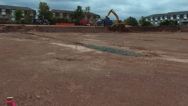 Digging out the footprint of the 50,000-square-foot addition at the Educational Services Commission of New Jersey's Piscataway Campus is underway.