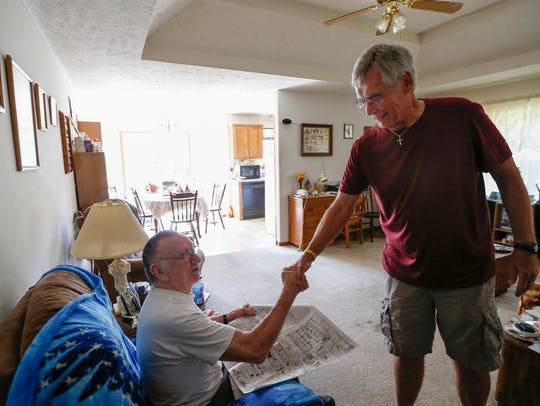 Larry McKinnis, 79, thanks Meals on Wheels volunteer