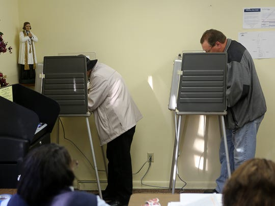 Ohio citizens cast their votes during a recent election.
