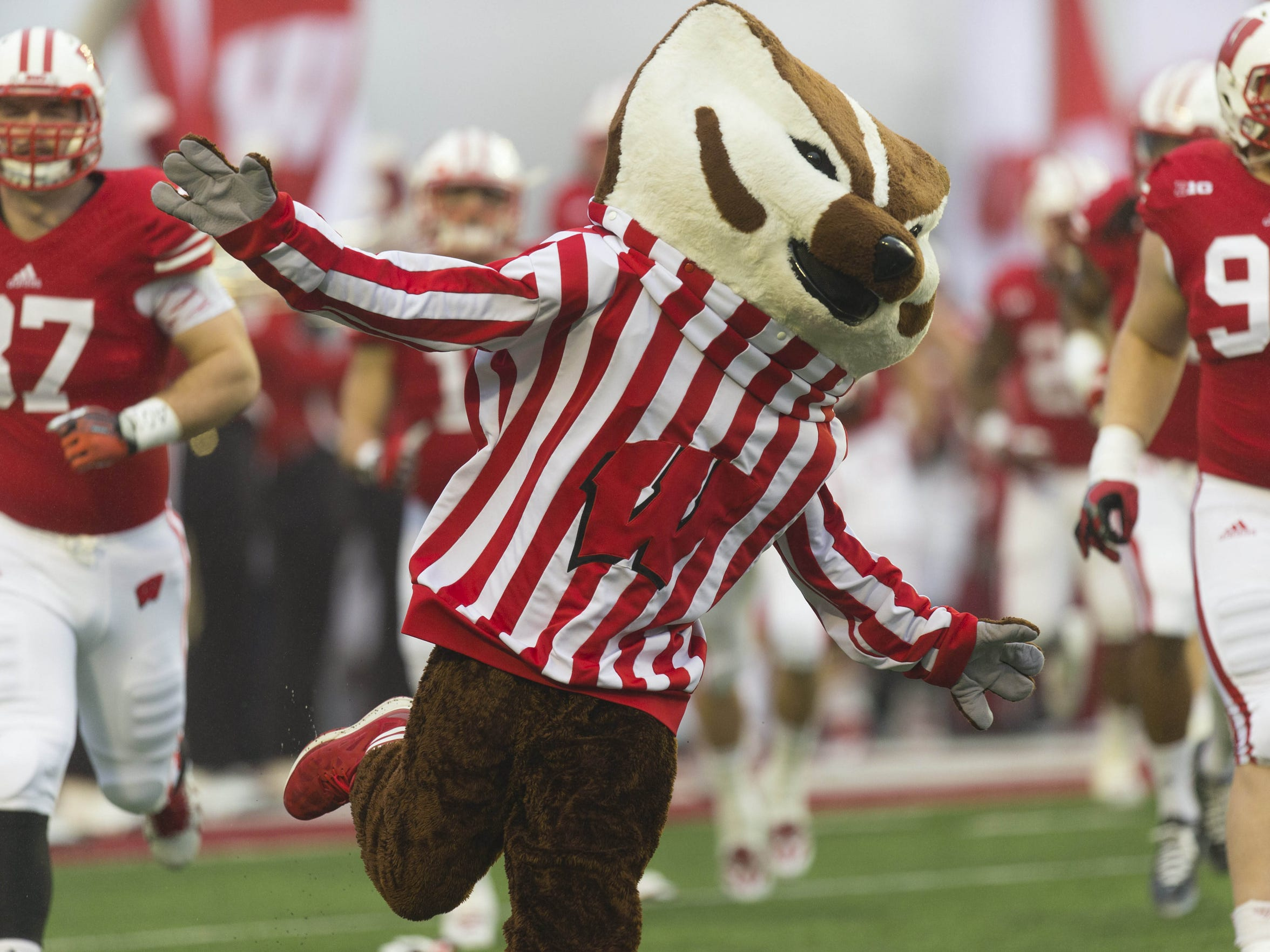 Bucky's excited the Badgers are playing at Lambeau. Are you?