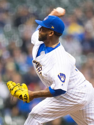 Former closer Neftali Feliz was released by the Brewers on Wednesday.