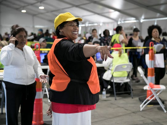 Delnita Lane helps people who are applying for disaster