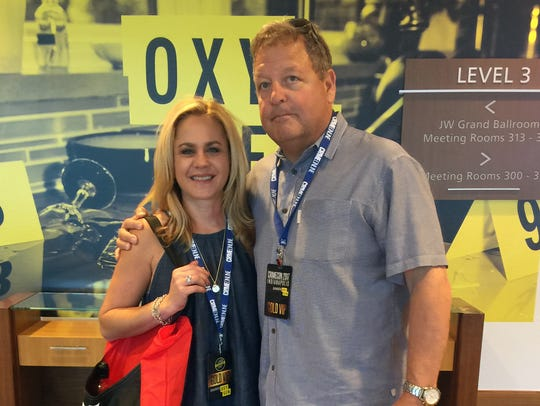Christy Tarver, 42, and her husband Larry, 60, at CrimeCon,