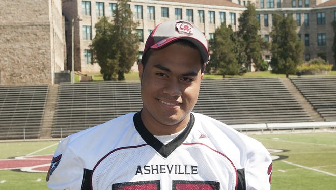 Asheville High senior Pete Leota has committed to play college football for South Carolina.