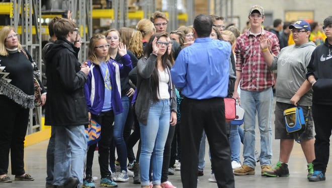 "RMC's ""Manufacturing Day"" allows local high school students a picture of what it might be like to work at a manufacturing business. Last year, 11 companies and 700 students participated.."