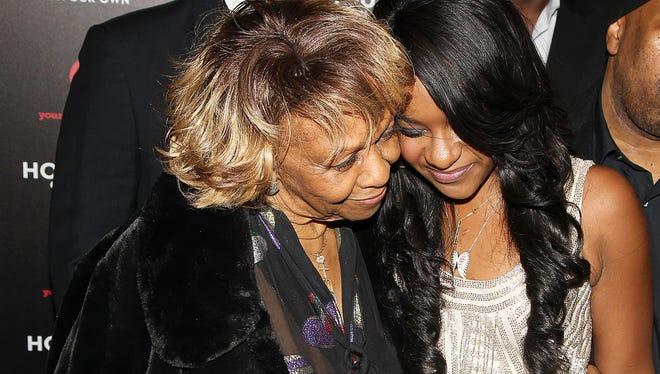 Cissy Houston and her granddaughter Bobbi Kristina Brown in October 2012