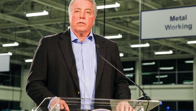 Gary Casteel, secretary-treasurer for the United Auto Workers, discusses the union's loss in a union election at the Volkswagen plant in Chattanooga, Tenn., in February 2014.