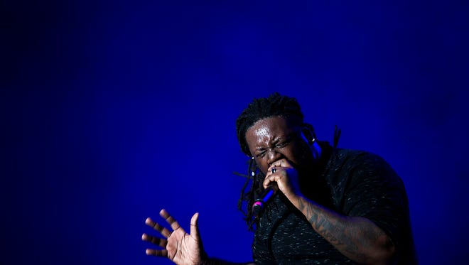 T-Pain performs at Eaglepalooza on Thursday at Germain Arena in Estero.