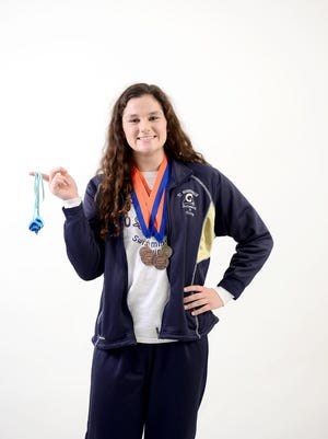 Roberson junior Anna Newnam is a star swimmer for the Rams.