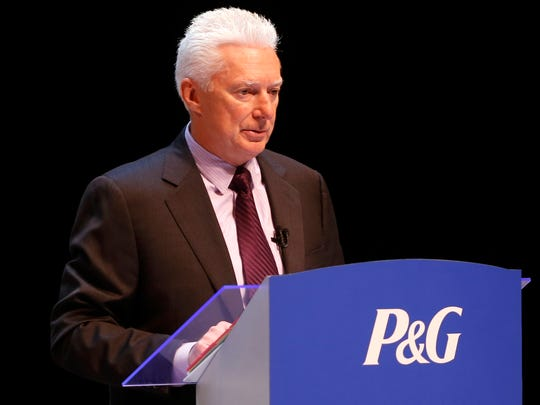 A.G. Lafley presides over his first  meeting before regular shareholders since returning as CEO to P&G in May 2013. The meeting was held at the Aronoff Center for the Arts in downtown Cincinnati.