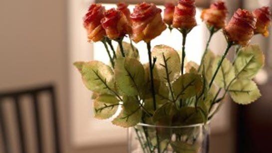 A bouquet of bacon roses. Do you think they smell better