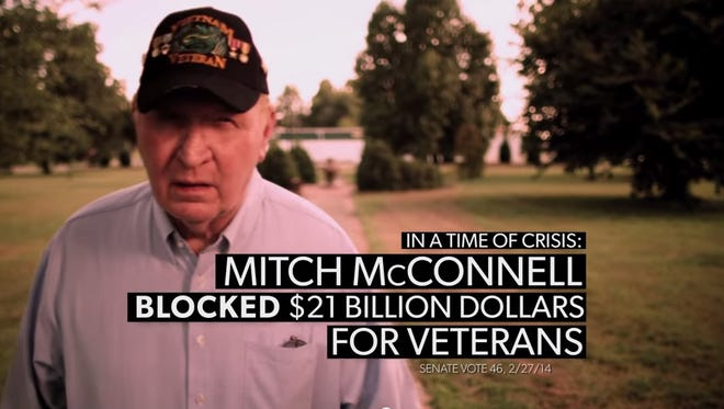 Vietnam Veteran Charles Erwin stars in a Vote Vets ad attacking Sen. Mitch McConnell.