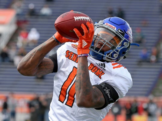 North Squad wide receiver Cedrick Wilson of Boise State