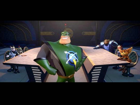Captain Qwark (voiced by Jim Ward) holds court over