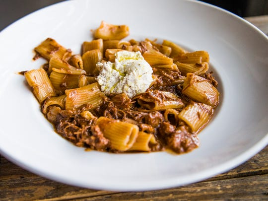 This is the rigatoni with slow-cooked pork sugo and house-made ricotta from Nico Heirloom Kitchen in downtown Gilbert.