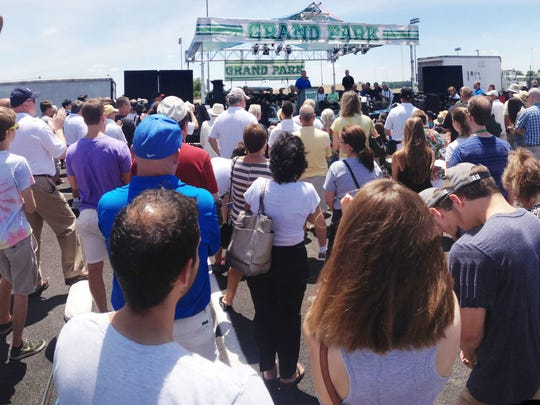 Hundreds of people turned out for the grand opening