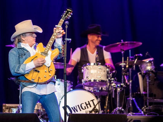 Dwight Yoakam performs in Des Moines at Wells Fargo Arena Wednesday, April 11, 2018.