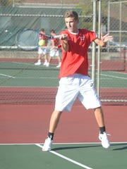 Richmond's Ryan Hollingsworth plays at No. 1 singles