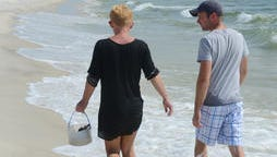 Tina Aultman and Jeff Manuel, both of Gulfport, comb some of Horn Island's wilderness beaches,
