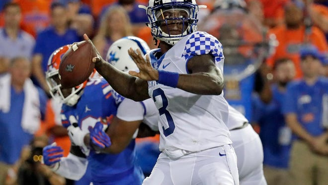 Kentucky quarterback Terry Wilson led the upset win the last time the Wildcats played in Gainesville,
