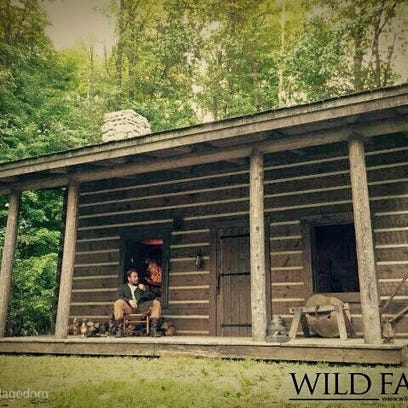 Part of the filming happened at a frontier cabin on