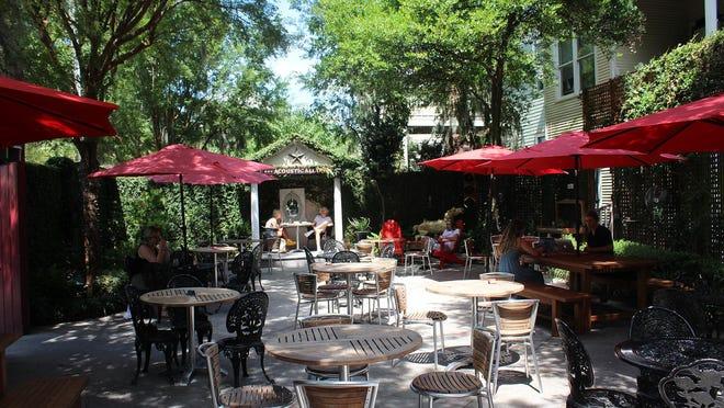 Foxy Loxy Cafe's courtyard.