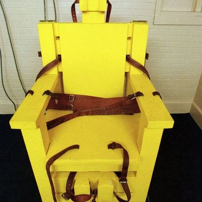 Yellow Mama, Alabama's electric chair, is at Holman