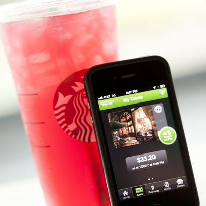 Starbucks mobile ordering.