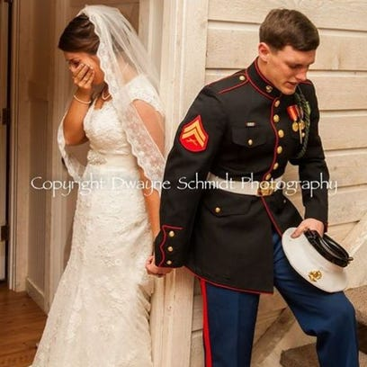 Moment before N.C. couple's wedding.