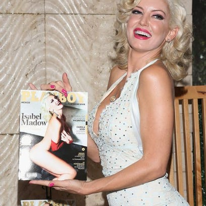 Actress Isabel Madow attends the Playboy Mexico magazine