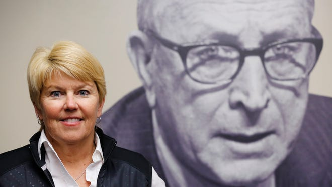 Cathy Wright-Eger, the Leadership Advisor for Purdue Athletics, Tuesday, November 17, 2015, on the campus of Purdue University. Wright-Eger helped create the John Wooden Leadership Institute.