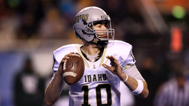 Idaho's Matt Linehan (10) is one of the Sun Belt's top returning quarterbacks.