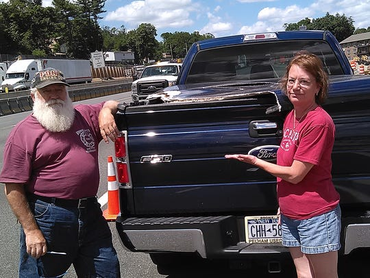 Eddie and June Pecoroni said their pickup truck was