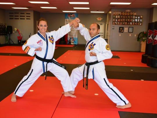 Lorena Ausa and her husband, Daniel Madriaga, own three ATA Black Belt Attitude karate schools in Greenville County.