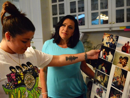 Petrina Picerno (right) and her daughter, Francesca Picerno (left), are shown at home in Holmdel.