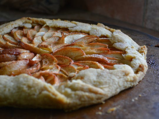 This apple galette's crust is made with lard.