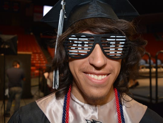 Seth Reyes, graduating senior at Chaparral High School,