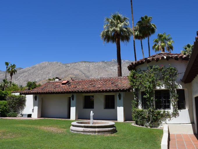 The exterior of the Harold Lloyd estate in Palm Springs,