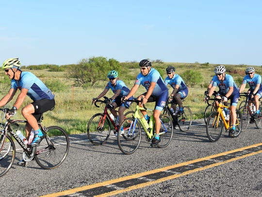 A group of cyclists completed the 9th annual 90 For
